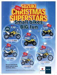 Suzuki Fun Bike Christmas Sale @ Rick Gill Motorcycles!