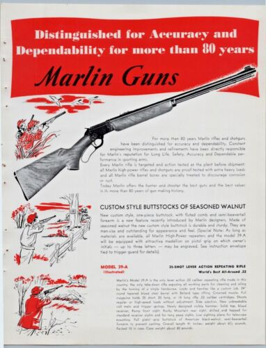Marlin Guns 1952 Hunting Rifles Print Ads