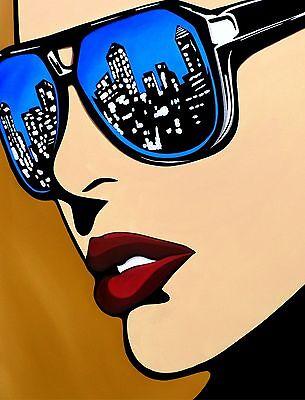 Abstract giclee print Modern Comic Pop HUGE Canvas WALL Art by Fidostudio