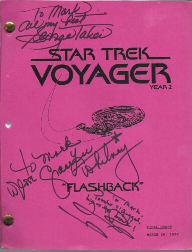 "Star Trek Voyager ""Flashback"" (1996) original signed script (see description)"