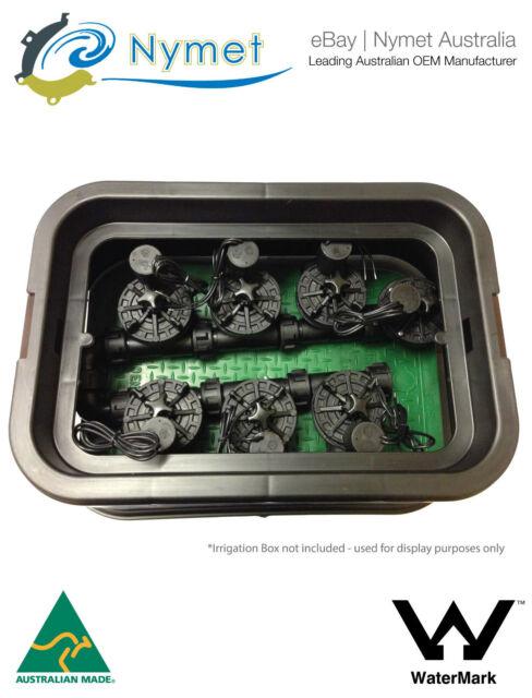 Irrigation Solenoid Valve Assembly 6x Manifold - 1x Inline 24VAC 100LPM
