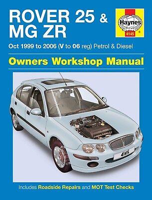 4145 Haynes Rover 25 & MG ZR Petrol & Diesel (Oct 1999 - 2006) Workshop Manual