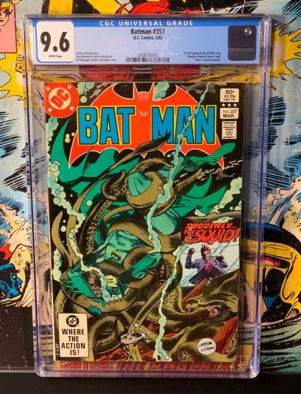 Batman 357 CGC 9.6 WP 1st Jason Todd and Killer Croc with Atari Insert
