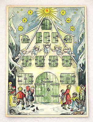 URALTER ADVENTSKALENDER Weihnachtskalender alt 1930 - 50 Christmas calendar