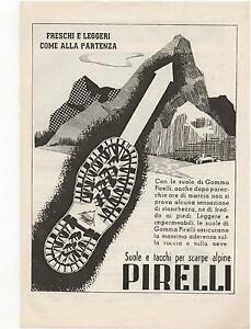 Pubblicita-anno-1950-PIRELLI-SCARPE-SHOES-ITALY-advert-werbung-publicite-reklame