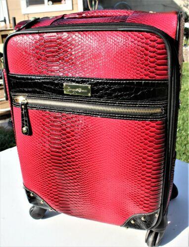 "Samantha Brown Spinner Luggage Burgundy  20"" Carry On"