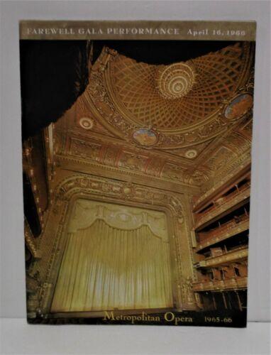 Vintage Metropolitan Opera New York Farewell Performance April 16,1966 w/program