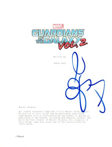 Zoe Saldana Signed Autographed GUARDIANS OF THE GALAXY VOL 2 Script COA