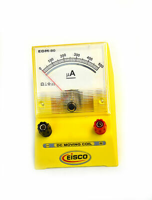 Analog Ammeter Dc Current Meter 0 - 500 Microamp 10 Microamp Resolution