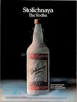 Vintage Print Ad 1986 Stolichnaya Vodka Frozen Stoli Any Way You Want Alcohol