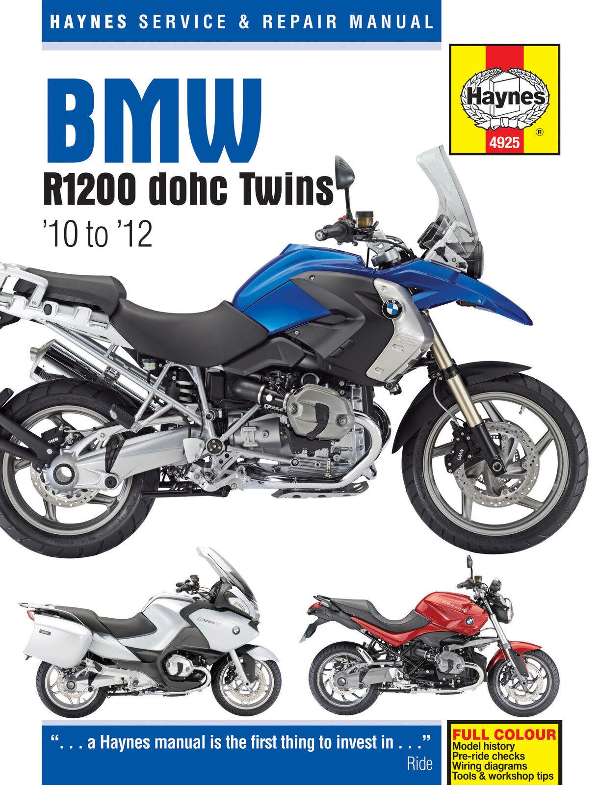 HAYNES 4925 WORKSHOP SERVICE REPAIR MANUAL BMW R1200 DOHC TWINS 2010 - 2012