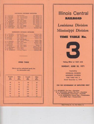 1971 Illinois Central Railroad ETT #3 Louisiana & Mississippi Divisions