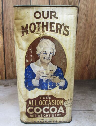Antique Advertising Tin Our Mother