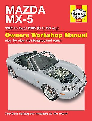 Haynes Manual 5565 Mazda MX-5 1.6i 1.8i Mk 1 Mk 2 Mk2½ NA & NB Series 1989-2005