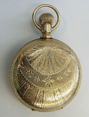 Solid 14kt Gold American Waltham Model 1883 18s Full Hunter Pocketwatch, Perfect
