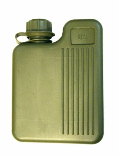 SQUARE CANTEEN 1 LITER ORIGINAL US ARMY OG Green Water Bottle Military Issue New