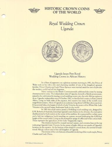 Historic Coins of World Uganda 1981 10 Shillings UNC Royal Wedding