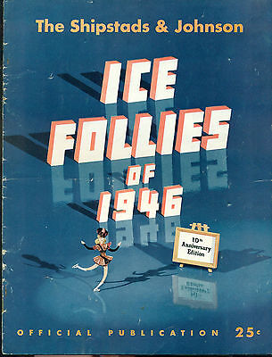 ICE FOLLIES OF 1946 Official Publication with illustration of Walt Disney Pluto