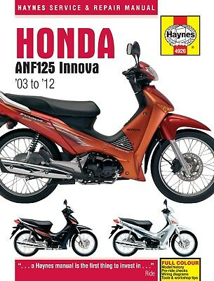 4926 Haynes Honda ANF125 Innova Scooter (2003 - 2012) Workshop Manual