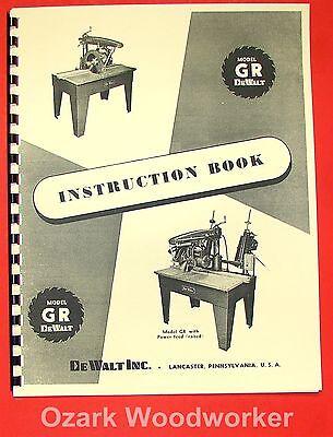 Dewalt Gr Radial Arm Saw Instructions Manual 0260