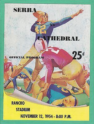 1954 Junipero Serra at Cathedral High School Football Program Los Angeles