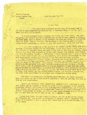 Orig. 1925 Letter from Father of Famous Early Aviator Charles Weymann, Signed