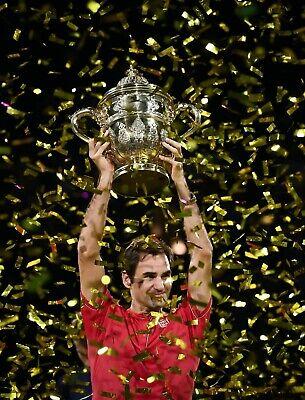 RARE BNWT XL = L Roger Federer Shanghai Basel Uniqlo Red Matchwear Tennis Shirt!