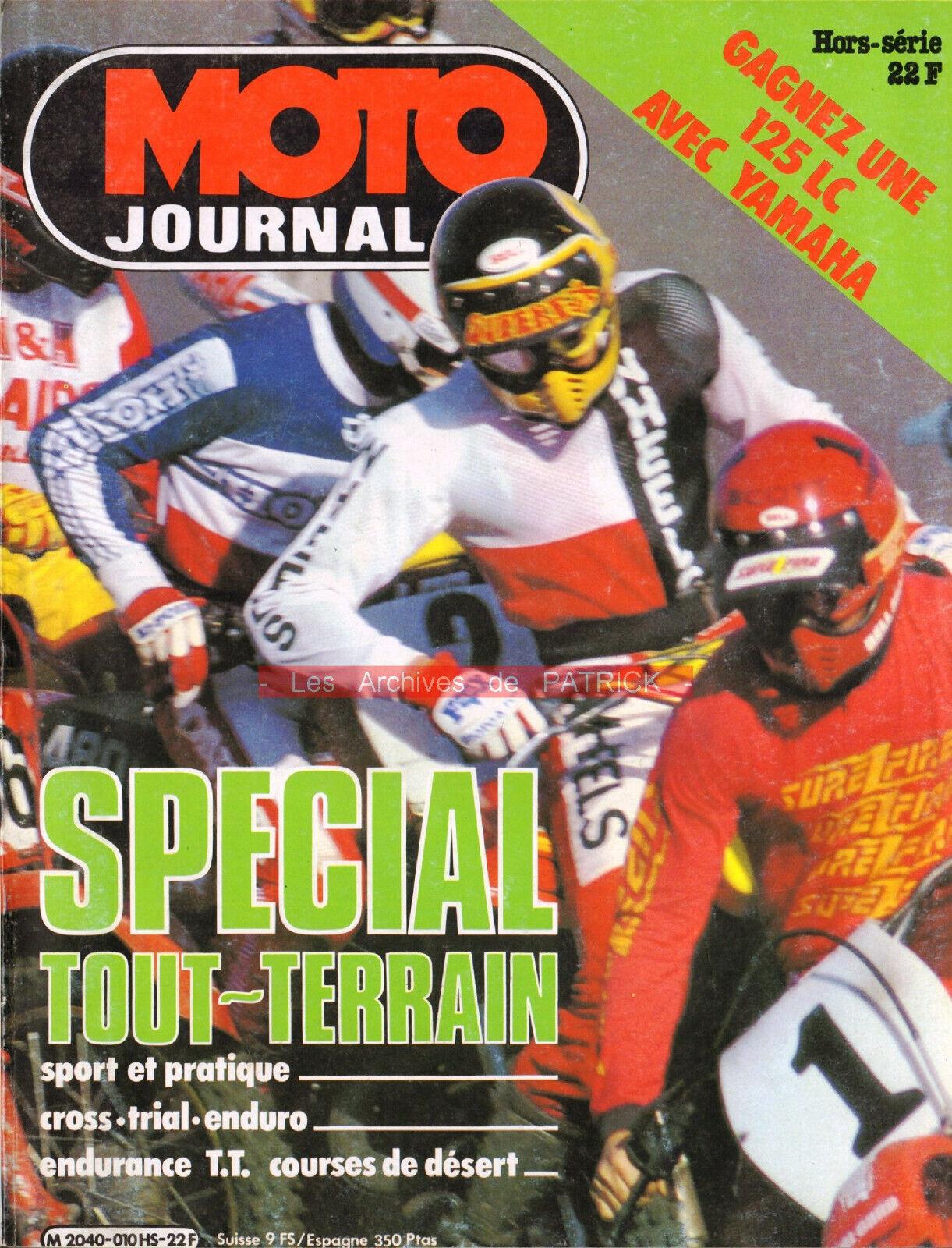 Moto journal hs «spécial tout-terrain 1982» cross enduro trial trail paris-dakar
