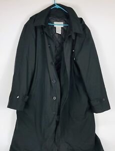 Men's long hooded overcoat new from Air Canada size 46 T