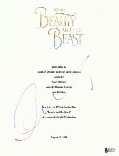 LUKE EVANS SIGNED BEAUTY AND THE BEAST FULL SCRIPT SCREENPLAY AUTHENTIC AUTO BAS