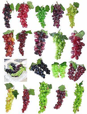 Deko Weintrauben XXL  Rispe Wein Trauben Kunstobst Kunstgemüse künstliches Obst