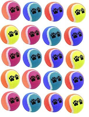 10 x AQS Coloured Tennis Balls For Pets Puppy Play Dog Cat Toys Ball New