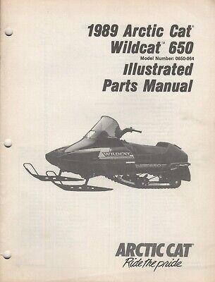 1989 arctic cat snowmobile wildcat 650 parts manual 2254-495 (896)
