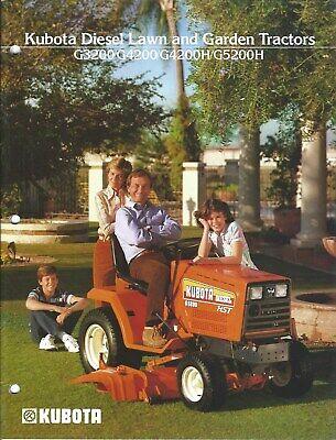 Lawn Garden Tractor Brochure - Kubota - G3200 Et Al - C1984 Lg158