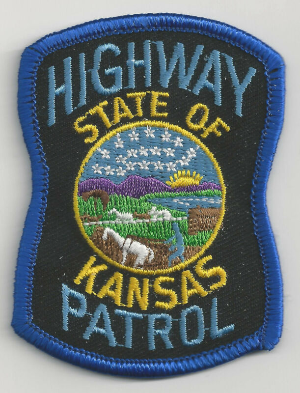 KANSAS HIGHWAY PATROL - SMALL SHOULDER PATCH - IRON OR SEW-ON PATCH
