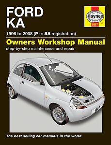 HAYNES-WORKSHOP-REPAIR-OWNERS-MANUAL-Ford-Ka-96-08-P-to-58