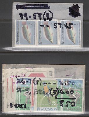 GUYANA -- DEALER'S STAMP STOCK  -- (19) DIFFERENT SETS --  1967-1980 -- MINT