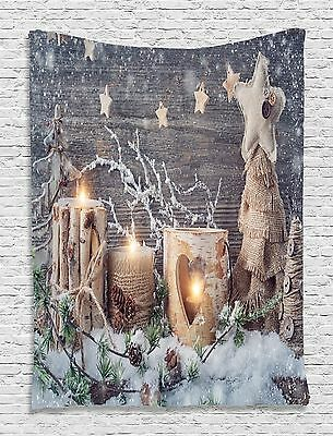 Christmas Gifts Candles Tapestry Wall Hanging for Living Room Bedroom Dorm Decor Dorm Room Christmas Decorations