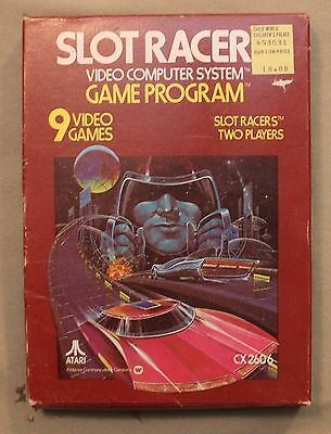 M Original Atari 2600 Cx 2606 Slot Racer Video Computer System Game Program