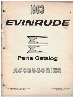 1963 Evinrude Outboard Motor Parts Catalog for Accessories