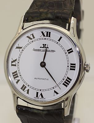 1980's Thin Slim Stainless Steel Jaeger le Coultre Automatic - 5001.40 - 34mm