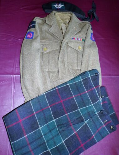 POST - WW 2 SCOTTISH HIGHLANDER MAJORS COMPLETE UNIFORM