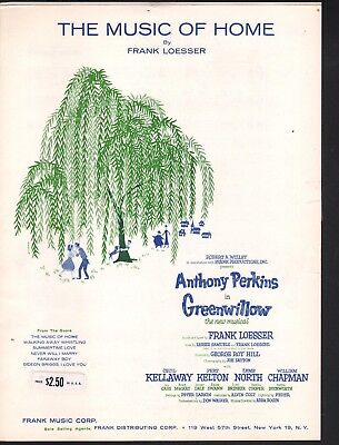 The Music of Home 1960 Greenwillow Sheet Music