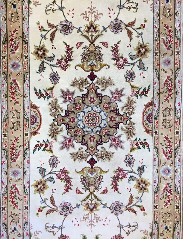 Tremendous Tabriz - Fine 50 Raj Persian - Floral Oriental Runner - 2.8 X 6.9 Ft.