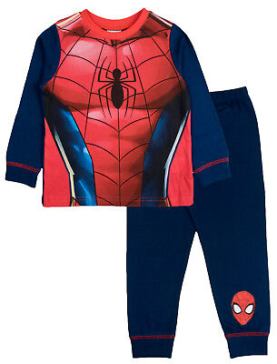 Kids Boys Spiderman Fancy Dress Up Play Costumes / Pyjamas Pjs Size UK 1-8 Years