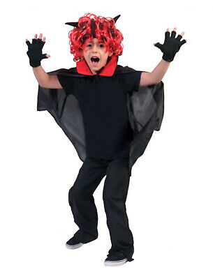 Kinder Kostüm Dracula Vampir Cape Teufel Halloweenumhang Halloween Fasching