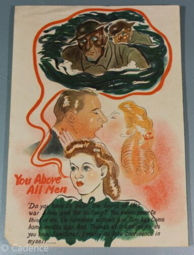WW2 Japanese IJA Propaganda Leaflet Australian You Above All Men Rare Nice 2