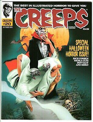 CREEPS MAGAZINE #20 OCT 2019 NM 9.4 (UNREAD) WARRANT PUBS RICHARD CORBEN COVER