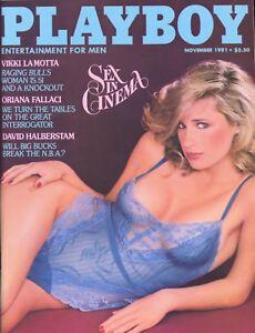 PLAYBOY NOVEMBER 1981 Teri Petersen Shannon Tweed Oriana Fallaci Vikki LaMotta