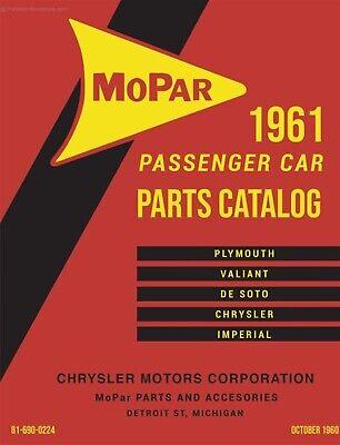 1961 Mopar Car Parts Book